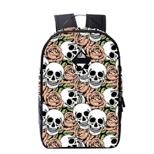 School bag teenagers skull figure backpack different personality type double shoulder bag