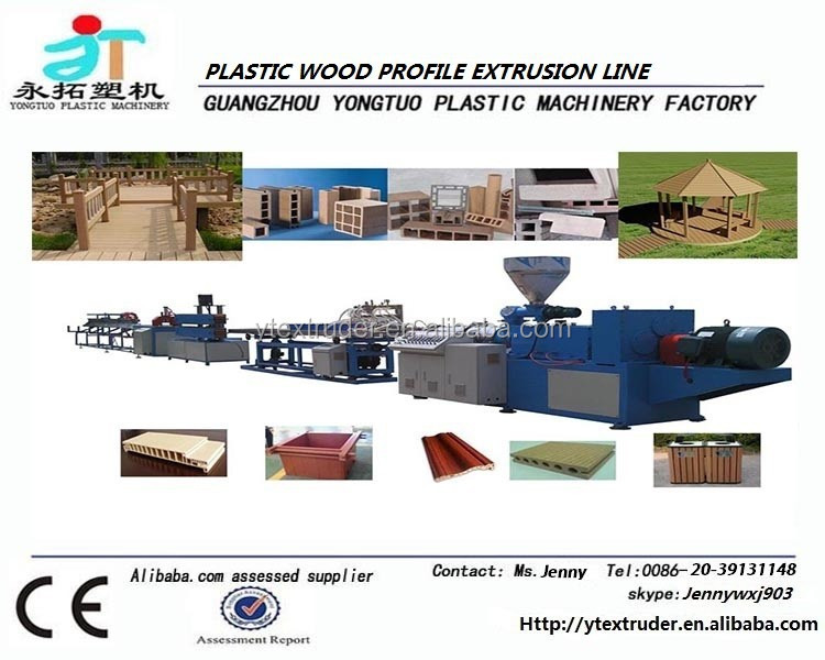High quality high output WPC profile extrusion production line / making machine
