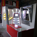 shanghai detian display offer 20x20 booth modular wooden exhibition stand for trade show design