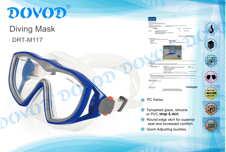 Promotional adult silicone scuba diving mask