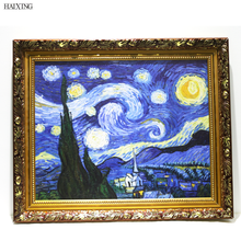 Famous Reproduction Oil Painting Van Gogh Starry Night Canvas Painting Art