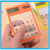 Most Popular Office Solar Transparent Calaulator Mini Scientfic Touch Screen Calculator