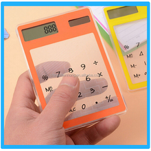 Most Popular Office Solar Transparent Calaulator Mini Scientfic Touch Screen Calculator