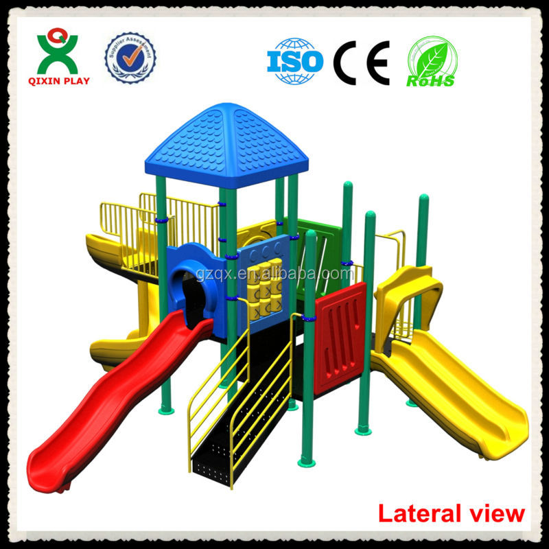 Kiddie Friendly Playground Equipment Sales/play ground slides/little tikes outdoor playsets/QX-069B