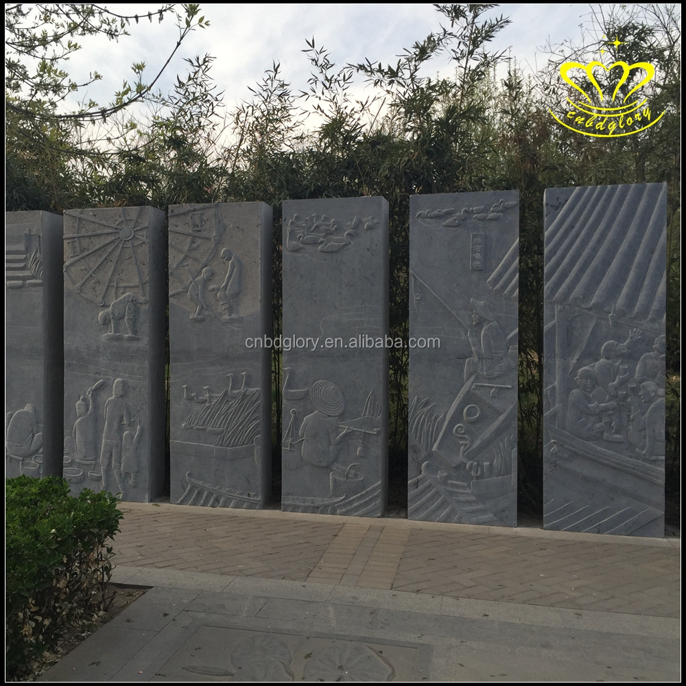 Custom outdoor hotel garden landscape decoration European style exquisite wall marble relief sculpture