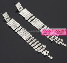 crystal fine jewelry fashion silver diamond necklace earring sets