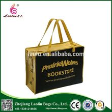 Customized Pictures Printing Non Woven Shopping Bag With Zipper
