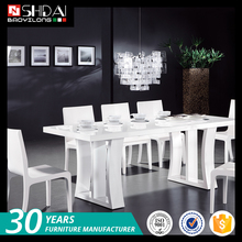 Hot selling universal white lacquer fashionable home wooden dining room furniture