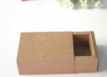 9 * 6 * 4 cm The Drawer Box Small Kraft SOAP Handmade Craft Gift Packing macaron Jewel Brown Paper boxes