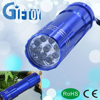 Hot sale 9 LED strong white light torch