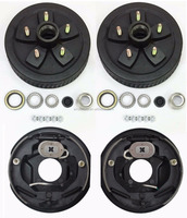 "Trailer 5 on 4.5"" brake drum kits with 10""x2-1/4"" electric brakes for 3,500 lbs trailer axle"