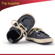 Polar fleece baby shoes Jean fabric latest design boys shoes