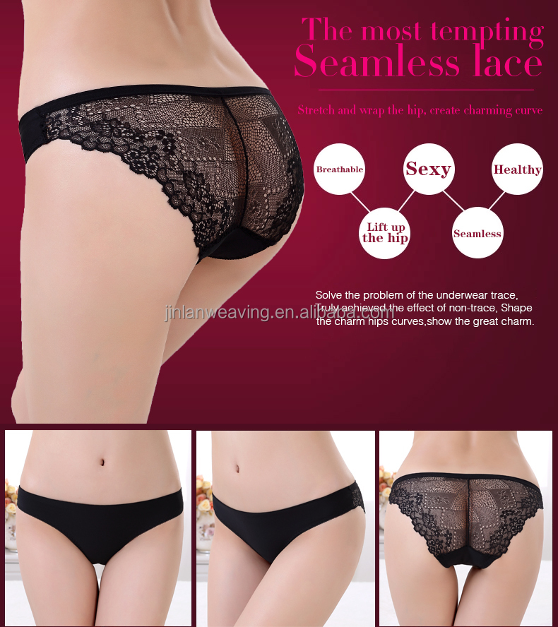 Wholesale Cute Women Seamless Underwear Transparent Low Waist ...