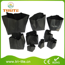 2016 black ldpe plastic plant nursery bag