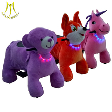 Hansel coin operated electric walking horse toys for kids