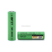 Wholesale price Li-ion 18650 Battery 3.7v 2200mah Rechargeable DFIT Battery For Electric Toys