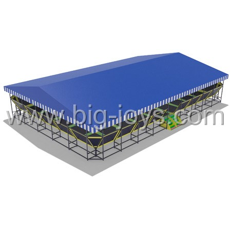 BJ-GXTP070513 outdoor trampoline park, kids bouncer trampoline with cover