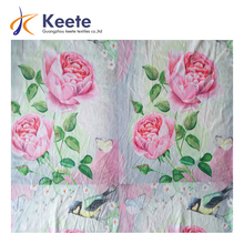 wholesale customized flower birds pattern printed fabric
