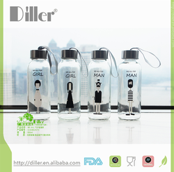 wholesale custom private lable reusable glass water bottle cover