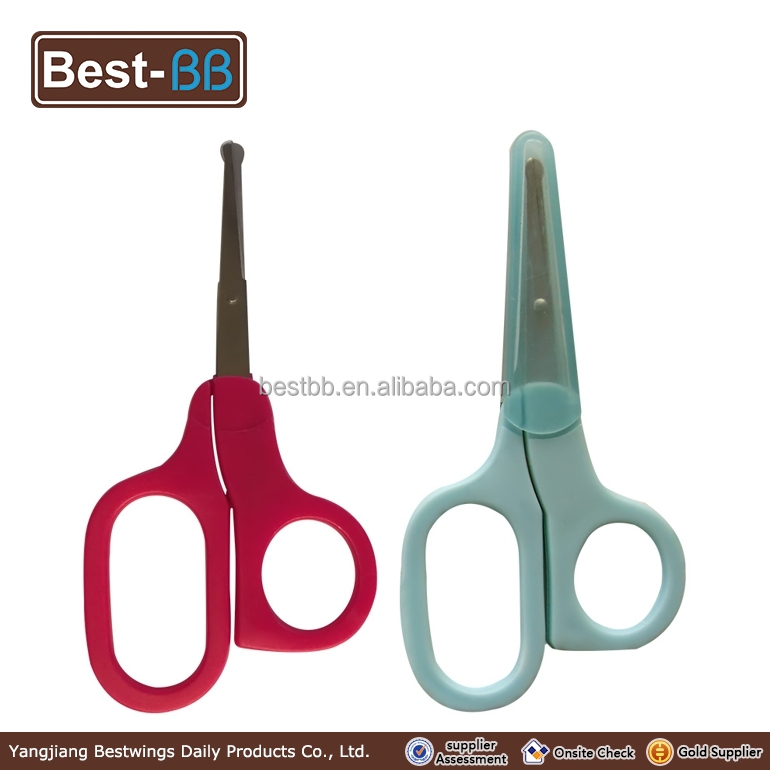 factory price high quality safety baby nail scissors/cutting hair scissors