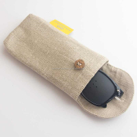 Organic Natural Material Hemp sunglasses pouch