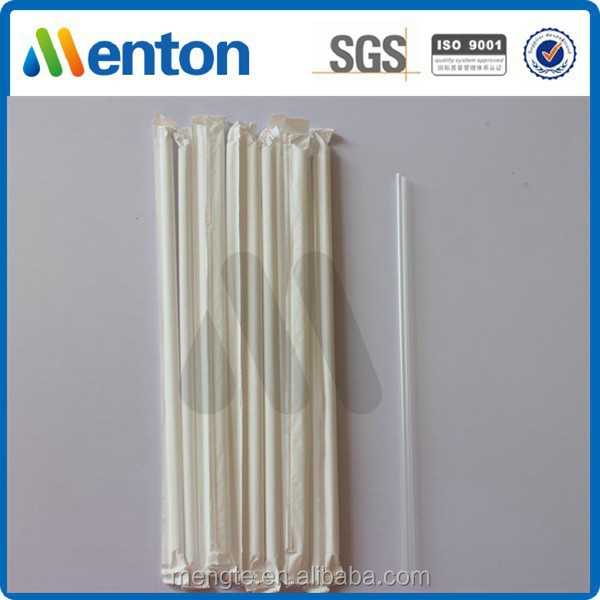 crystal plastic drinking straws,individually wrapped