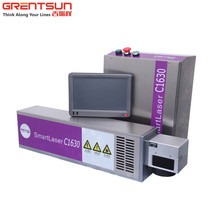 High speed CO2 laser marking machine to print expiry date on bottle, plastic packing bag