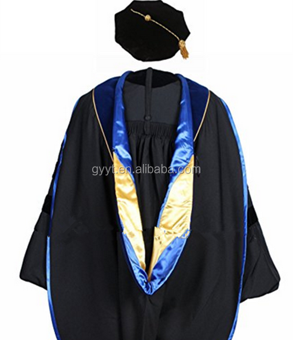 individually Package Doctoral Graduation Gown Tam Set