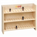 Three Tiers Custom Wooden Essential Oil Display Rack for Cosmetic Store Wholesale