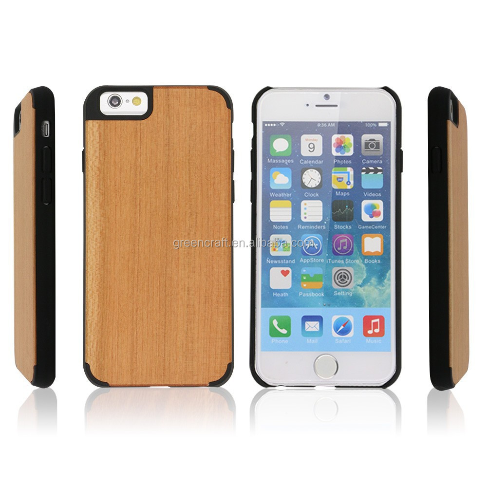 New Design Blank PC Wood For Iphone5 Case