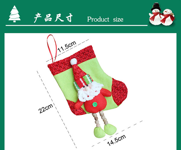 Chinese manufacturers 2019 Wholesale Logo Customized Printed Christmas gifts Stockings