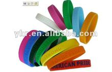 2012 most fashional personalized silicone bracelet