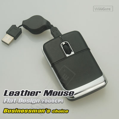 laptop usb flexible cable leathery USB 3D mini mouse