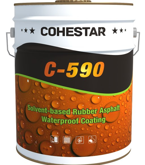 Spraying Solvent Based Rubber Asphalt Waterproof Paint for Building Roof