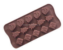 2016 Wholesale Promotional Gift Silicone Christmas Chocolate Molds