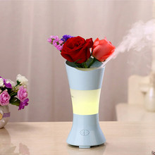mini car mistifier aroma aromatherapy 300ml rose flower air essence facial bamboo gel neck diffuser humidifier as seen on tv