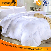 High quality 100% cotton fabric,filling microfiber quilt used for hotel,hospital,home