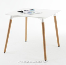Styled MDF Black squared table with beech wood legs TB-01