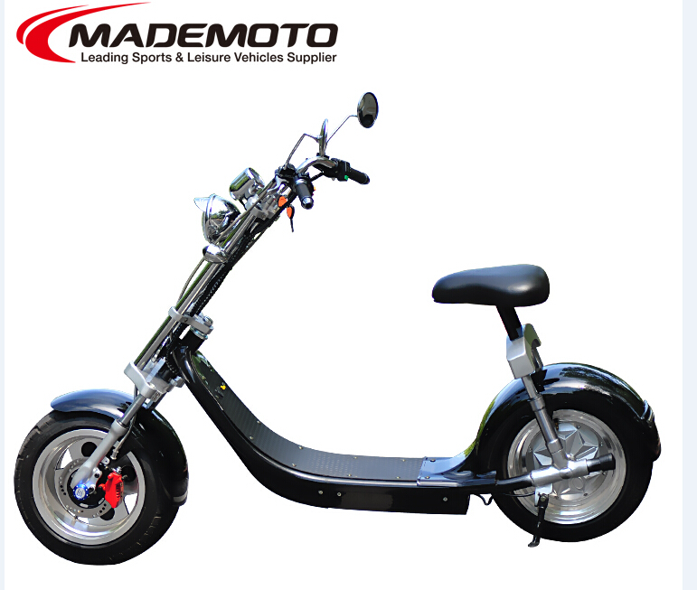2017 electric scooter city coco 1500W 2000W 2 big wheels City scooter bike with CE