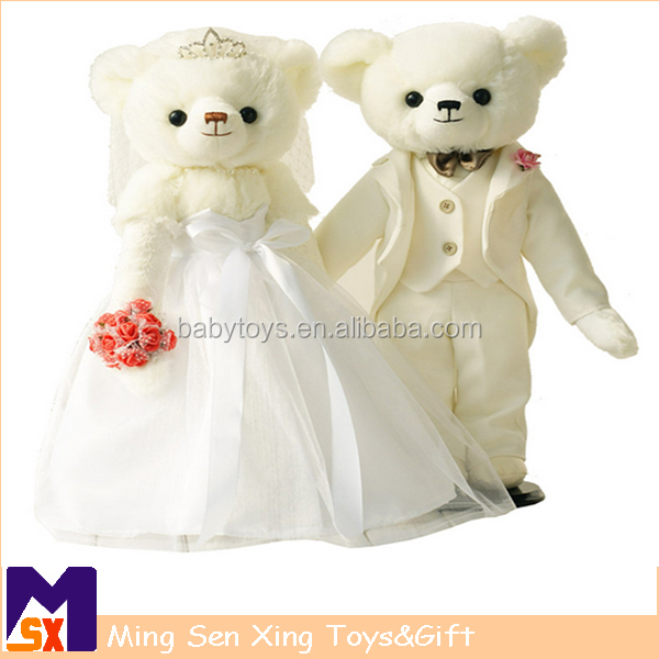 Good Quality Festive Plush Stuffed Teddy Bear Toy For Lovers and Weddings Gifts
