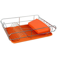 PVC Coated Dish Rack with Plastic Holder
