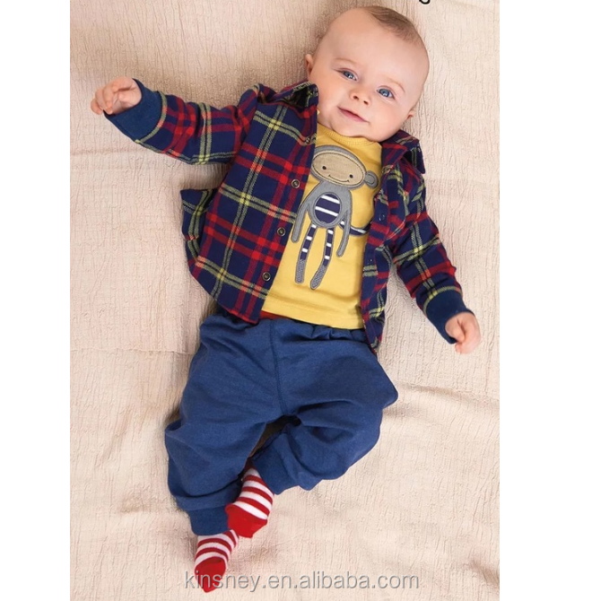 KS10462A Western baby boys 3 pieces suit new spring baby boy dress clothes