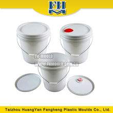 HDPE plastic paint pot mold with screw lid ,plastic paint bucket injection mould