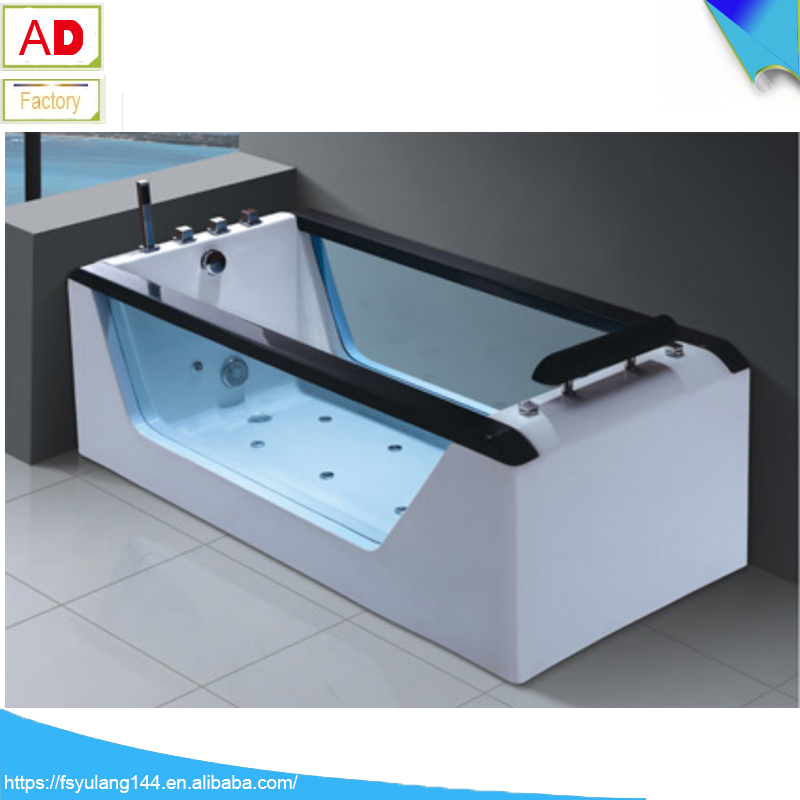 AD-622 NEW DESIGN of 2016 year!!! --- 1700mm/67inch width single rectangle acrylic massage bathtub with whirlpool and air bath