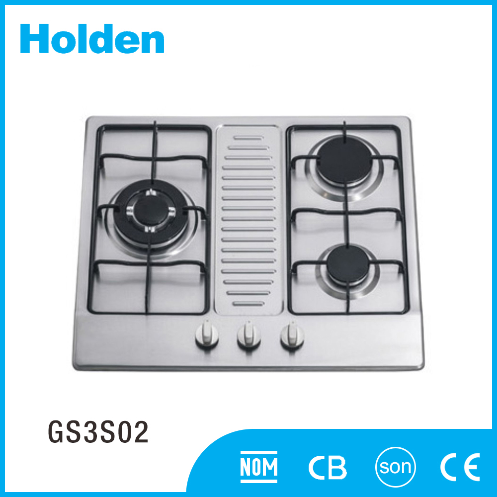 GS3S02 Strong and durable Commercial gas stove large capacity cooking range 3 burner
