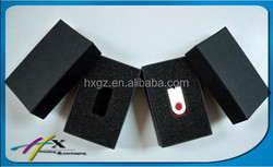 Customised USB flash disk packaging boxes with die cut insert foam wholesale