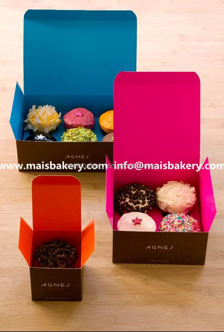 Recycled kraft paper drawer type 1,2,3,4,6,8,12,24 cupcake box
