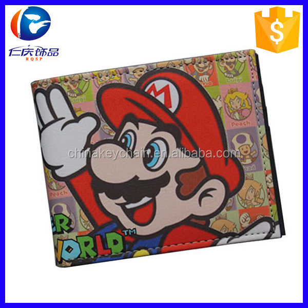 Super Mario Brothers Video Game Bifold PU <strong>Wallet</strong>