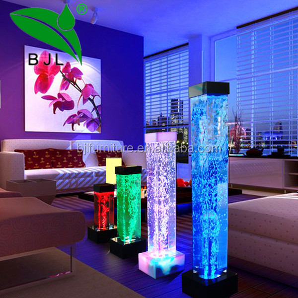 acrylic <strong>led</strong> square tube water bubble tubes room divider screen