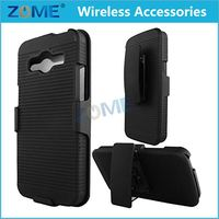 Smartphone Pc +Tpu Line Matte Plastic Holster Combo Dual Layer Hybrid Cover Phone Case With Stand For Samsung Galaxy Avant G386T